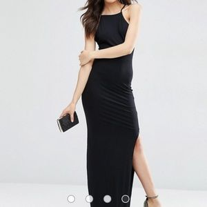 NEW ASOS TALL Halter Strappy Back Maxi Dress